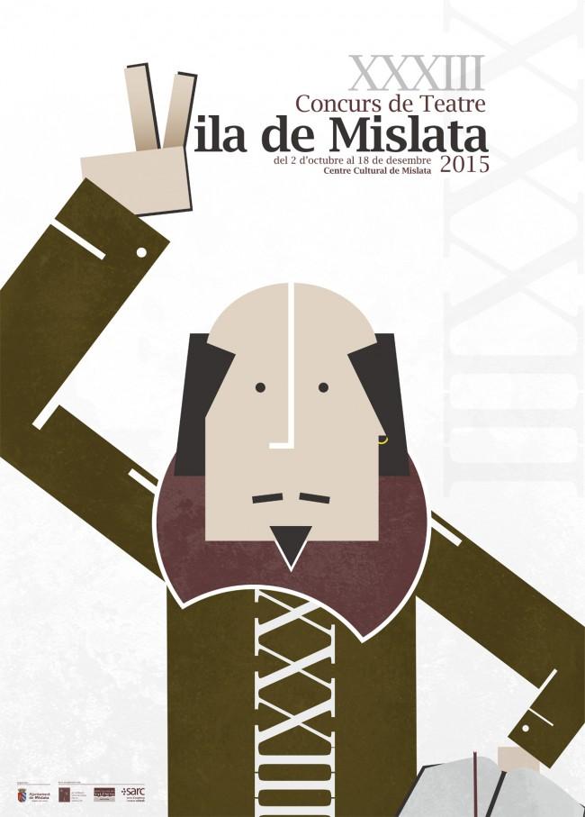 Cartell Concurs de Teatre Vila Mislata 2015