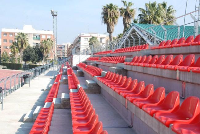 Gradas Polideportivo nuevos asientos