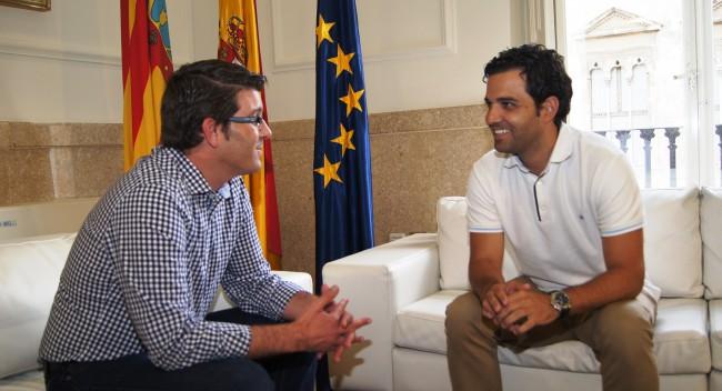 Jorge Rodríguez junto a alcalde Paterna,   J.Antonio Sagredo2