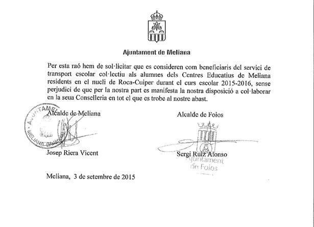 Meliana-Foios-escrit-conselleria-Educacion