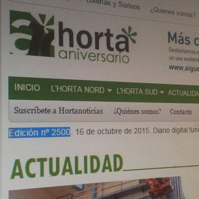 Hortanoticias. edicion 2500