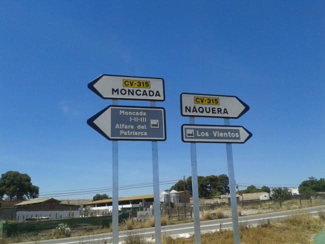Moncada. Alfara. Acceso CV315 By Pass