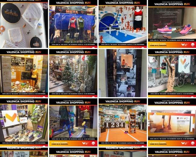 concurso de escaparates comercios centro histórico maratón valencia