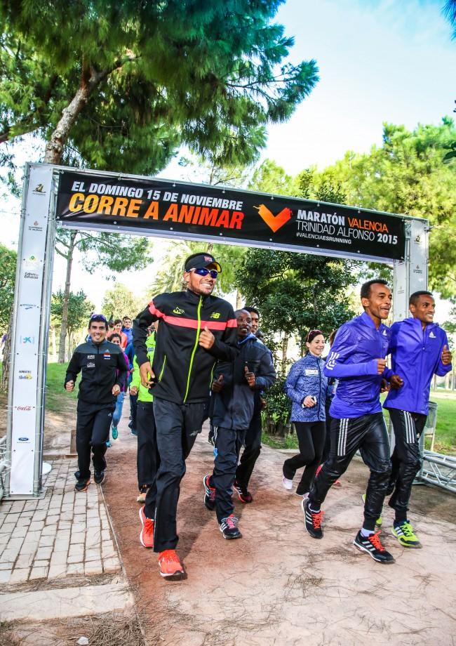 recepción atletas de élite maratón