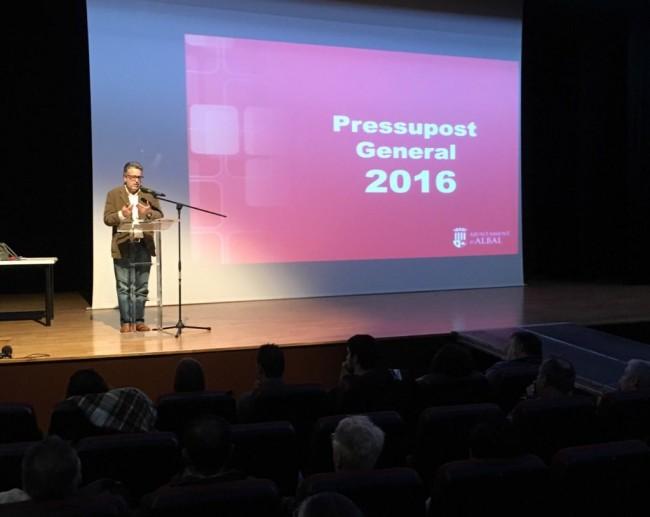 Albal. Presentacio Pressupost