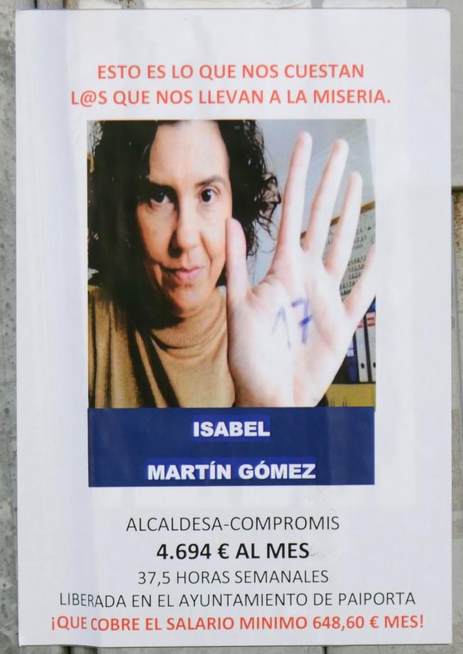 Paiporta. carteles. alcaldesa Isabel Martín