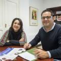 Rosa Pérez con alcalde de Sedaví