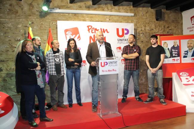 Unitat Popular. Inicio campaña Generales 2015