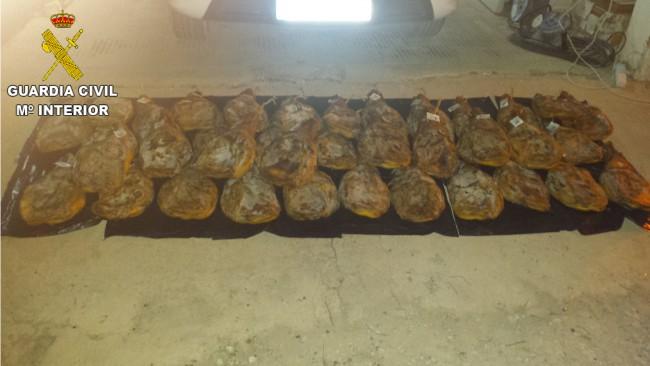 paletillas de jamón quart de poblet