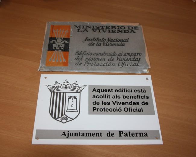 Paterna. Placas falangistas