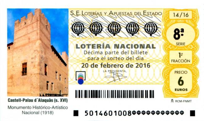 Décimo Sorteo Viajero Alaquàs Lotería Castillo