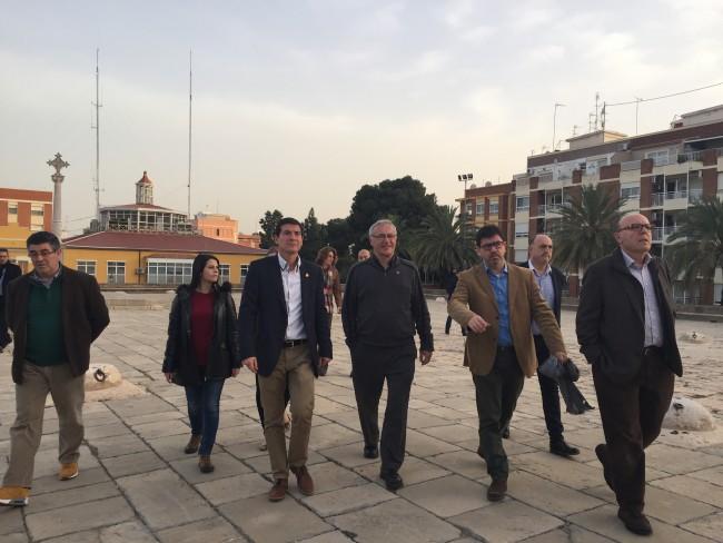 Visita a los silos de los alcaldes de Valencia y Burjassot
