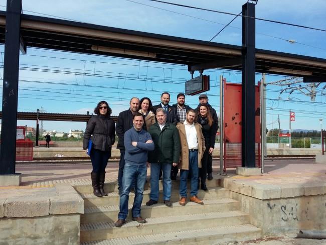 abalos con alcaldes de horta nord en la estación de adif de massalfasar