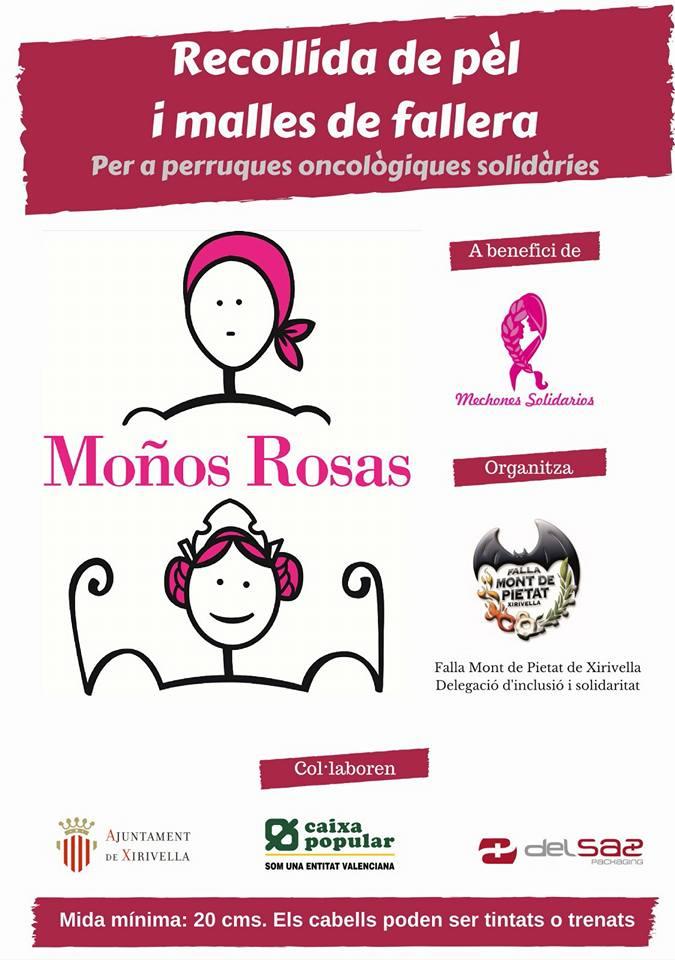 cartel campaña moños rosas