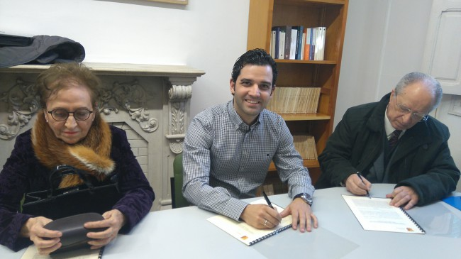firma donación libros
