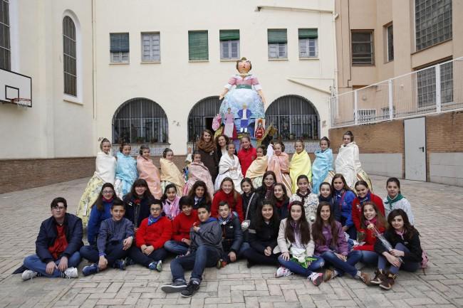 Fallera Mayor Infantil Valencia 2016 visita su colegio de Quart de Poblet