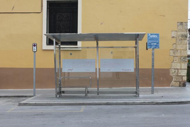 Marquesina parada bus Plaça Ajuntament