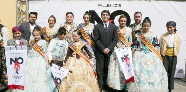 Recepción falleros de la provincia en Diputación 2016