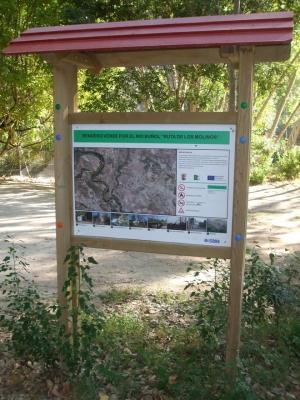 Foto: Señalización en la Ruta de los Molinos de Alborache