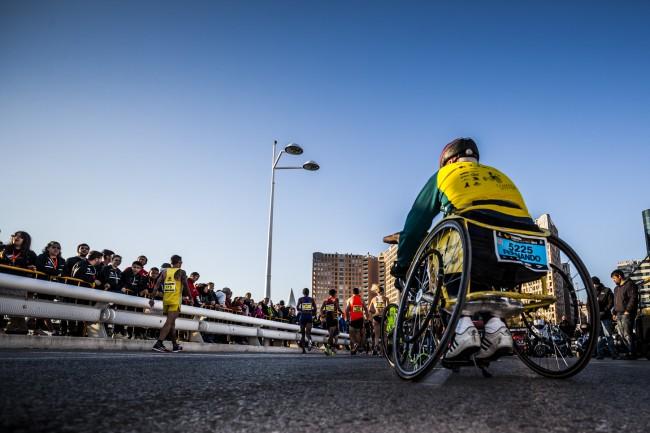 maraton atletas con discapacidad