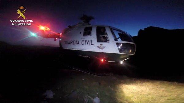 Guardia Civil. Helicóptero. Benasque