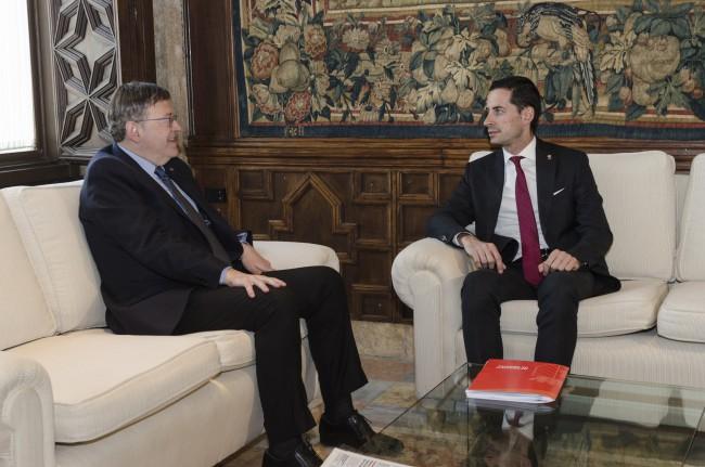 Reunión Puig y Bielsa en el Palau de la Generalitat-1