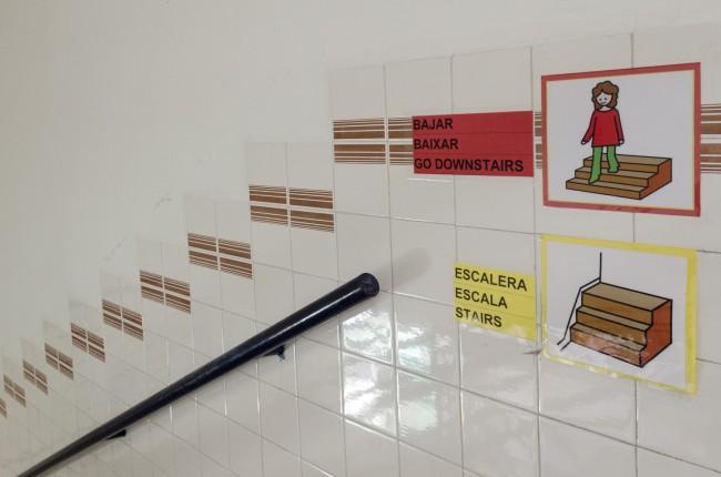 Señalización con pictogramas colegio Jaume I-7