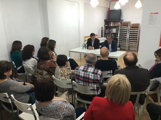 Secretario Autonómico de Educación,  Miguel Soler,  en Burjassot