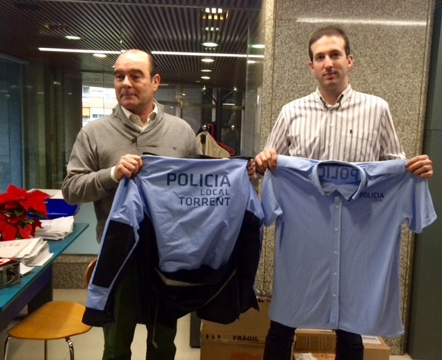 Torrent. PP Torrent. Uniformes Policia Local. azul celeste