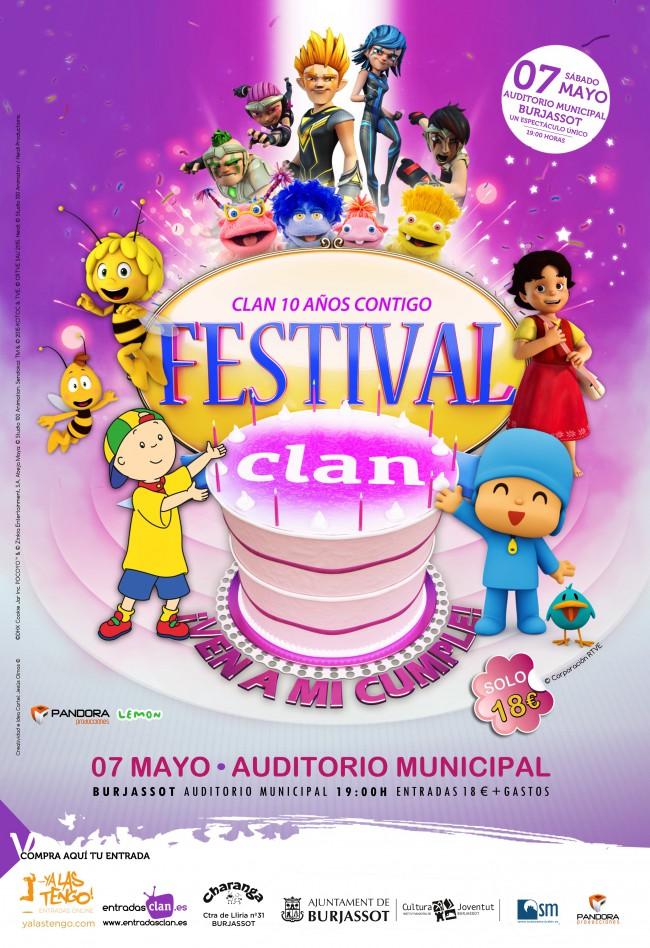 Cartel Festival Clan Burjasot