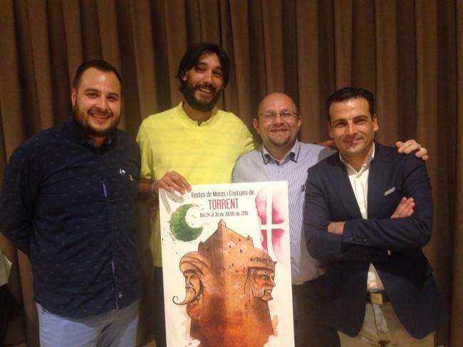 Miguel Ángel Bonilla Sánchez,  guanyador del cartell de Moros i Cristians de Torrent 2016