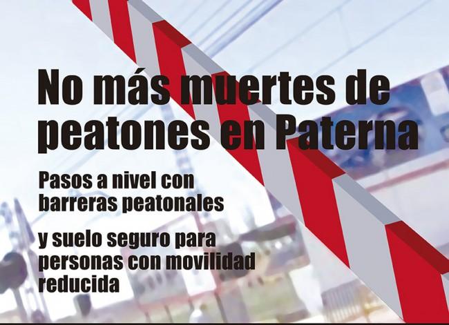 Paterna. concentracion muertes pasos a nivel FGV