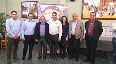 Sebastían Ruiz Flores,  presidente del Club de Pescadores Deportivos de Alaquàs,  junto a representantes de los ayuntamientos miembros de la organización.