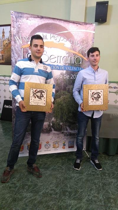 La pareja ganadora. De izquierda a derecha: Jorge Gómez y Fernando Lluch.