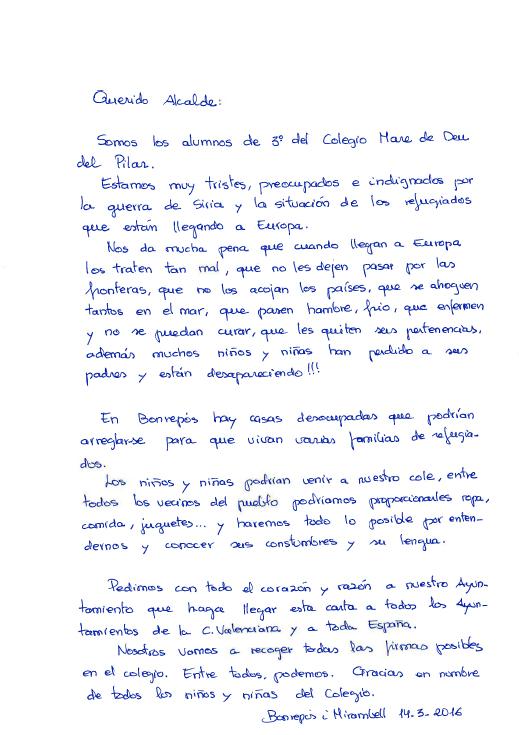carta niños bonrepòs refugiados