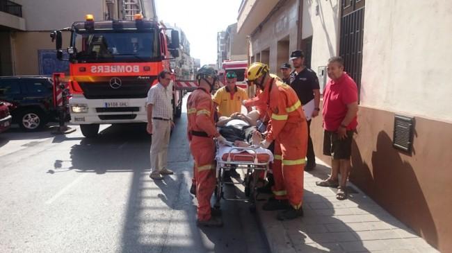Manises. bomberos rescate