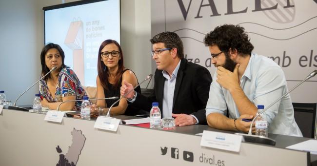 Rueda prensa primer año de gobierno Diputación