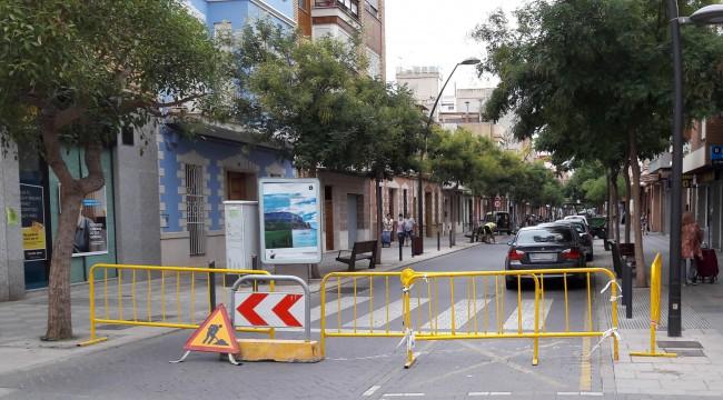 Albal. Avenida Corts Valencianes. Obras