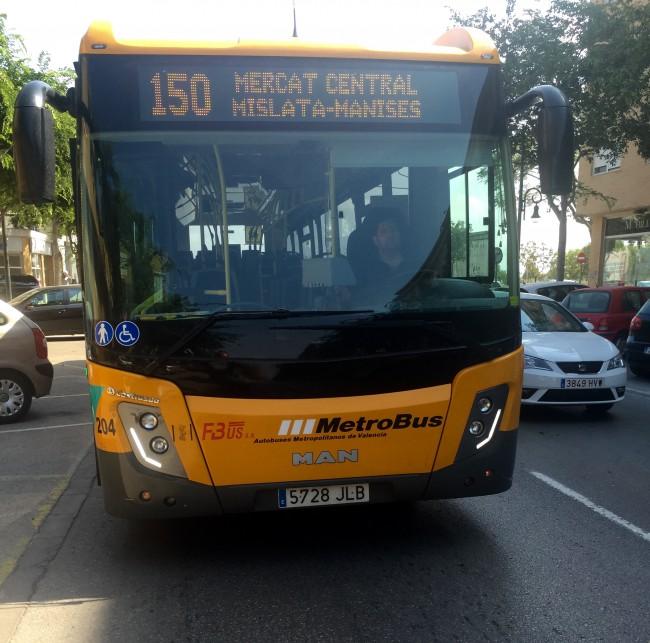 Autobus linea 150 Mercat Central