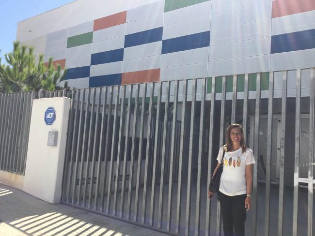 Nuria en la escuela infantil Fuente del Jarro