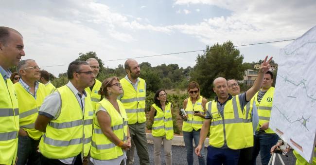 Visita obras carretra Picassent a Monserrat
