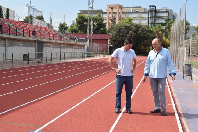 obras pabellón y pista atletismo burjassot