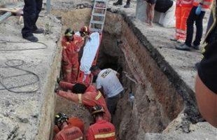 Ferit un operari a les obres d'evacuació d'aigües brutes a la partida de l'Alteró de Silla