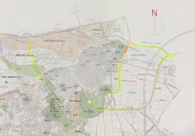 plano_puente_torrent_corredor_comarcal_carretera_picanya