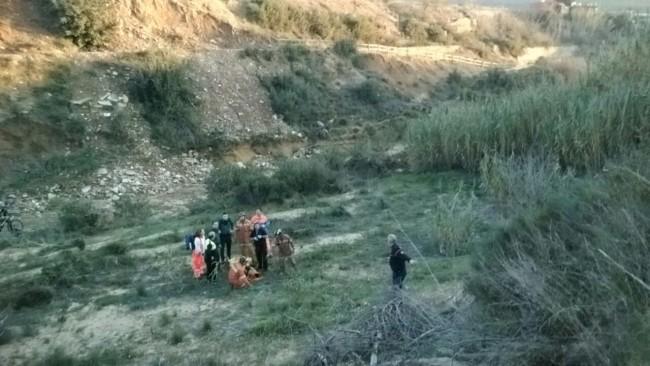 Rescate ciclista Torrent
