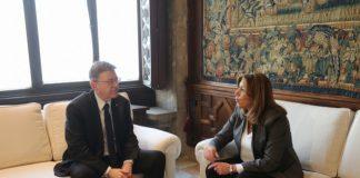 Ximo Puig y Susana Díaz en Generalitat