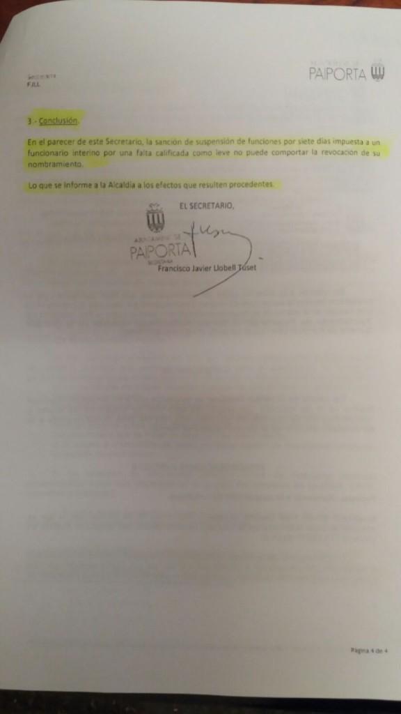 Informe Secretario Municipal