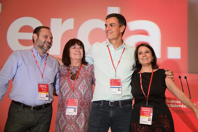 Nueva Ejecutiva del PSOE de Pedro Sánchez