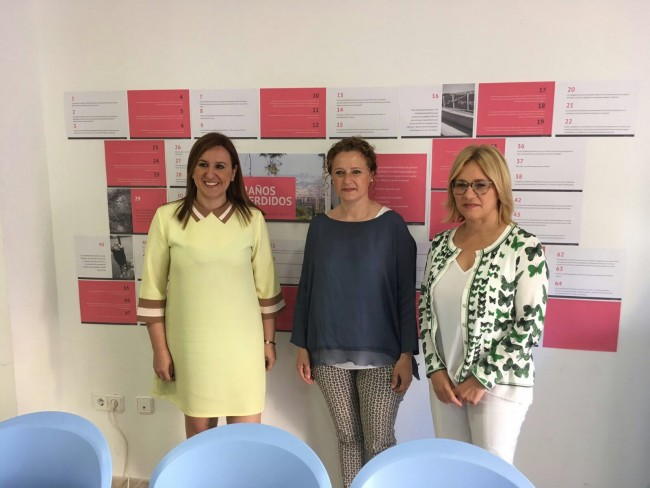 Maria José Catalá, Amparo Folgado y Mari Carmen Conteles (de izquierda a derecha)