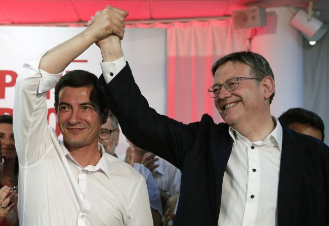 Rafa García y Ximo Puig Primarias PSPV 2017